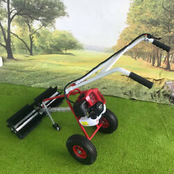 New 1.25 Kw / 1.7 Hp 43cc Gas Power Hand Held Sweeper Broom Cleaning Driveway