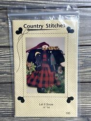 Primitive Country Stitches Let It Snow Snowman 195 Sewing Craft Pattern Uncut