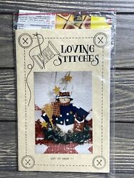 Primitive Loving Stitches Let It Snow Snowman With Sled Sewing Craft Pattern Cut