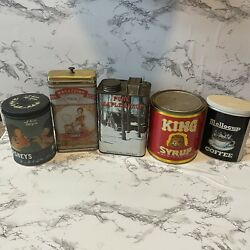 Vintage Advertising Tin Lot Canister King Syrup Maple Syrup Hershey Mellocup