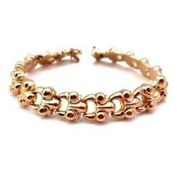 Bracelet Wristband Band Large, Chain Jersey In Style, Gold - 18 Gr. 7 1/2in X 1