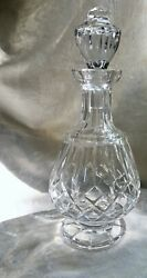 Waterford Crystal Lismore Footed Brandy Decanter And Stopper Rare, Immaculate