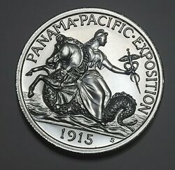 1915 Pan-pac Exposition 2.50 Gold Commemorative 2 Oz Silver High Relief W Cap