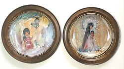 Ted De Grazia Little Madonna Bell Of Hope Autographed Signed Plates