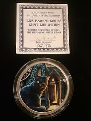 Lisa Parker Collection What Lies Within 5 Oz Colorized Silver Round Coa 146/250