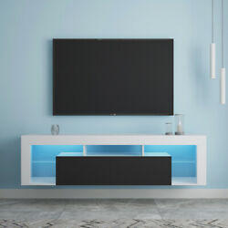 Tv Stand With 160 Leds Wall Mounted Floating 63 Tv Stand Consoles