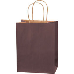 8 X 4.5 X 10.25 Brown Tinted Paper Kraft Mailers Shoping Bags - 2500 Pack