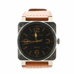 Bell And Ross Aviation Golden Heritage Automatic Watch Stainless Steel And