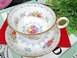 Shelley Tea Cup And Saucer Crochet Pattern Floral Chintz Teacup England 1940s