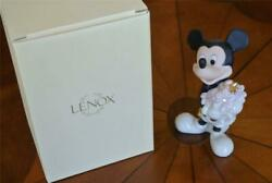 Disney Lenox Mickey Mouse Mickey's Flowers For You White Gold China Figurine