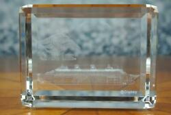 Dcl Disney Cruise Line 3d Crystal Paperweight Etched Glass Magic Dream Wonder