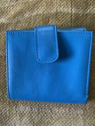 tusk leather blue wallet $34.99