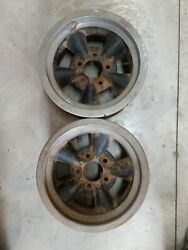 Vintage Two Piece Torque Thrust Style Wheels 14x6 Gm Chevy 5 On 4 3/4 Pattern