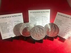 Triple Play3 In Lot2oz.999 Silver,total 6oz.all C.o.a.caps,ships Free