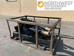 Skid Steer Auger Attachment With 3 Bits 8 12 14