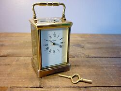 Superb Quality French L'epee Heavy Brass Strike And Repeat Carriage Clock G.w.o