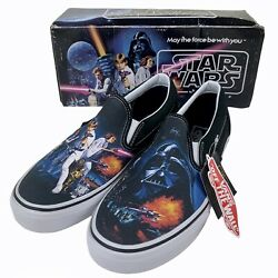 Star Wars X New Hope Slip-on Shoes Men's 8.5 Women's 10 Brand New With Tag
