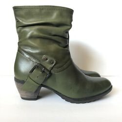 Eric Michael Women#x27;s Green Boots with Buckles and Straps Accents EUR 38 US 7.5 8 $52.00