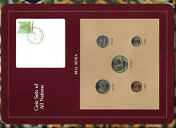 Coin Sets Of All Nations Malaysia W/card 1967-1984 Unc 10 Sen 1967 50 Sen 1983