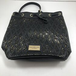 Marc New York Andrew Marc Black amp; Gold Large Tote Purse Clean Beautiful Bag $20.50