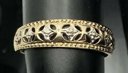 9ct Yellow And White Gold Ring Fancy Design - By Qvc London 385 9k
