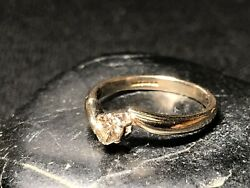 9ct Gold Brown Diamond Solitaire Ring - By Maker H. Mathews 1996 Size P