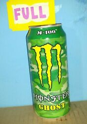 Rare 2015 Monster Energy Drink M-100 Ghost 1x Full Unopened 16oz Can
