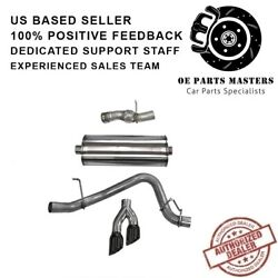 Corsa 14826blk 304 Ss Cat-back Exhaust System Dual Side For Cadillac/gmc/chevy