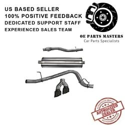 Corsa 14748blk 304 Ss Cat-back Exhaust System Dual Side Exit For Chevy/gmc 15-20