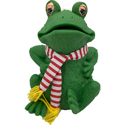 Animated Singing Christmas Frog Sound Motion Santa Claus Coming To Town Rubber
