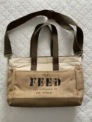 FEED the children of the world messenger bag tote RARE See Photos $65.00