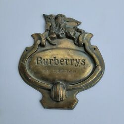 Vintage Burberrys Of London Store Display Plaque Advertising Sign Prorsum