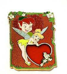Tinker Bell Le 100 Disney Pin ✿ Tink Peter Pan Valentine Rose Stained Glass Rare