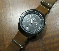 Heuer Carrera Ref.110.572 Vintage Automatic Chronograph Cal.12 Pvd Case