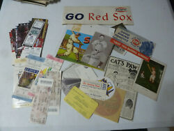 Old Misc Vintage Sports Memorabilia Collection Ticket Stubs Etc Etc Red Sox