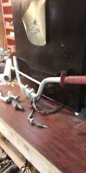2000 Honda Xr70r Handlebars, Including Throttle Grip, Cable, And Brake Lever