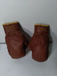 Vintage Pair Of Maroon Red Everlast Boxing Gloves 7 Oz Size U.s.a.