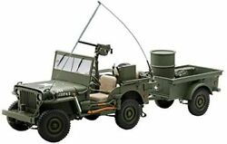 Autoart 1/18 Jeep Willys Army Green Trailer Accessories Included