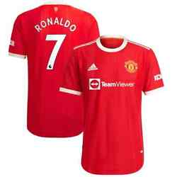 Adidas Authentic Cristiano Ronaldo Manchester United 2021/22 Home Men Jersey Red