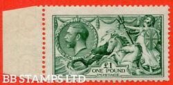 Sg. 404. N72 3. Andpound1.00 Dull Blue Green. A Fine Mounted Mint Left Hand M B56523