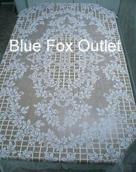 Lace Tablecloth 60 X 118 Or Place Mats White Trellis Of Rose Diningroom Wedding