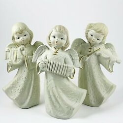 Vintage Angel Trio With Instruments My Made In Japan Paper Mache 9