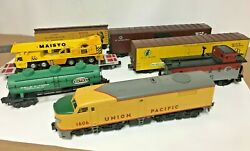 Vintage O Scale Mixed Mth Train Set Rare Union Pacific Diesel Locomotive 1606