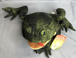 Frog Puppet Plush Folkmanis Toad Full Body Hand Bumpy Green Creative Play Cloth