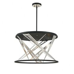 Transitional 8-light Led Chandelier With Chrome/clear Metal/crystal - 17.75