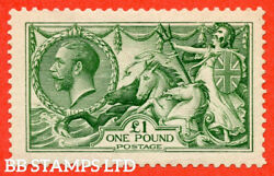Sg. 403. N72 1. Andpound1.00 Green. A Fine Mounted Mint Example. B56594