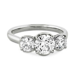 Christmas Sale 1.10 Ct Real Diamond Engagement Ring 14k White Gold Size 6 7 8 9
