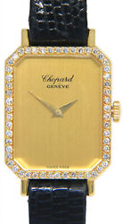 Chopard 18k Yellow Gold And Diamond Bezel Ladies Manual Watch +papers 5086