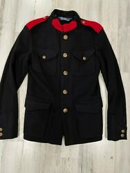 Polo Wool Military Officers Jacket Size S Epaulets