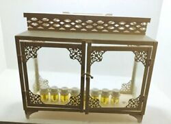 Menorah Honoka Judaica Metal And Glass Handle By Hand And Wall W 8 Olive Oil Candles